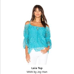 Revolve Vava by Joy Hahn off the shoulder lace top